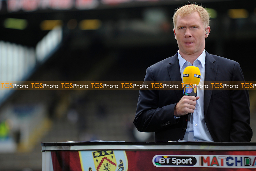 BT Sports pundit Paul Scholes - Burnley vs Manchester United - Barclays Premier League Football at Turf Moor, Burnley, Lancashire - 30/08/14 - MANDATORY CREDIT: Greig Bertram/TGSPHOTO - Self billing applies where appropriate - contact@tgsphoto.co.uk - NO UNPAID USE