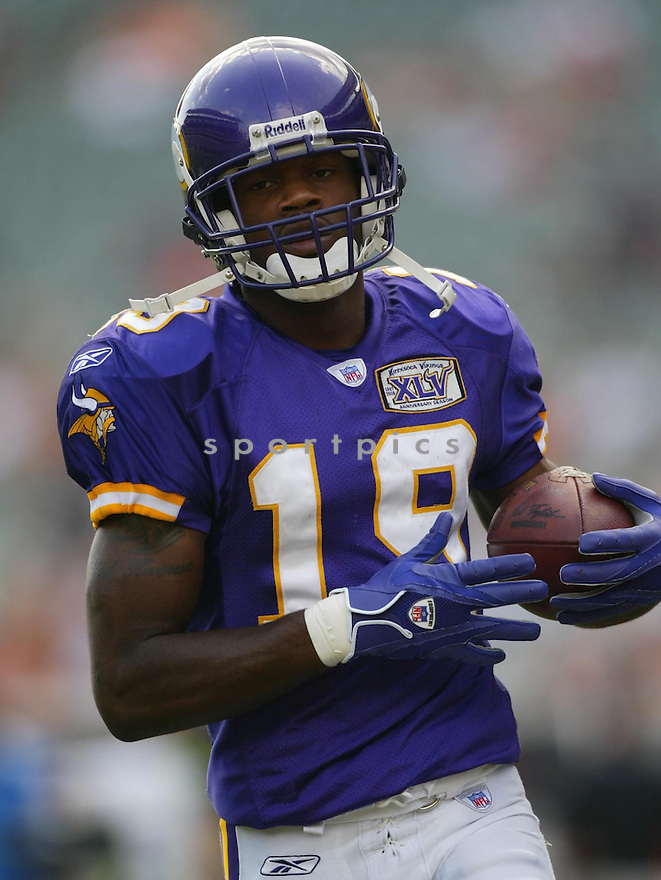Troy Williamson, of the Minnesota Vikings, during thier game against the Cincinnati Bengals.on September 18, 2005...Bengals win 37-8...Kevin Tanaka / SportPics