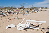 Pollution in desert of Baja California