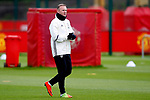 Wayne Rooney of Manchester United walks out to train during the Manchester United training session at the Carrington Training Centre, Manchester. Picture date: May 19th 2017. <br /> Pic credit should read: Matt McNulty/Sportimage