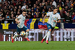 Argentina's Lautaro Martinez (L) and Suarez (R) during International Adidas Cup match between Argentina and Venezuela at Wanda Metropolitano Stadium in Madrid, Spain. March 22, 2019. (ALTERPHOTOS/A. Perez Meca)
