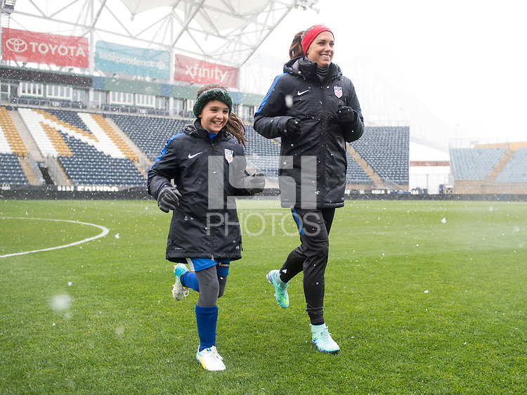 Chester, PA - April 8, 2016: The USWNT trained in preparation for their international friendly against Colombia at Talen Energy Stadium.