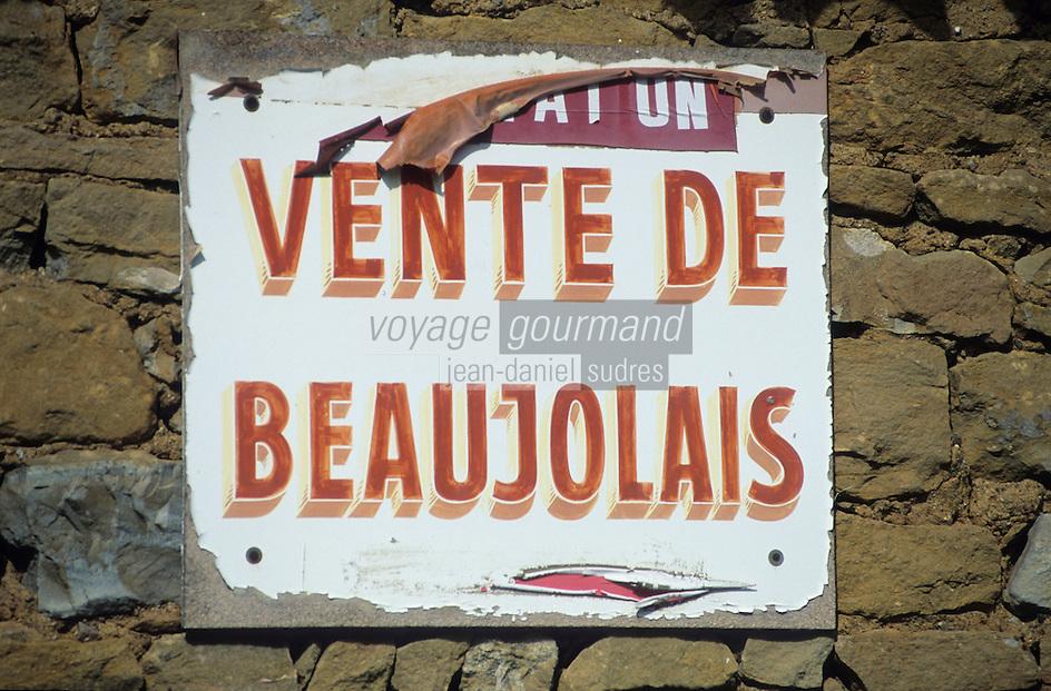 Europe/France/Rhône-Alpes/69/Rhône: Panneau de vigneron