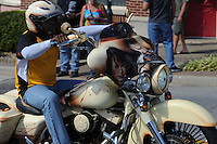 NWA Democrat-Gazette/ANDY SHUPE<br /> Participants enjoy the 16th annual Bikes, Blues &amp; BBQ motorcycle rally on Dickson Street in Fayetteville.