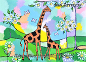 Nettie,REALISTIC ANIMALS, REALISTISCHE TIERE, ANIMALES REALISTICOS, paintings+++++FamilyGiraffes,USLGNETPRI35,#A#, EVERYDAY pop art