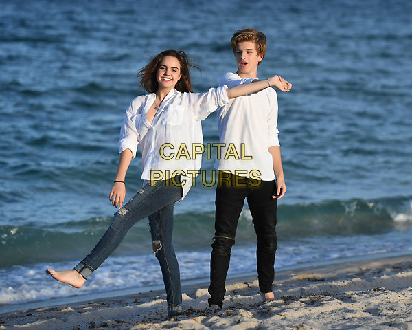 FORT LAUDERDALE FL - APRIL 25: Bailee Madison poses for a portrait with her boyfriend Alex Lange on Fort Lauderdale Beach on April 25, 2017 in Fort Lauderdale, Florida.  <br /> CAP/MPI04<br /> &copy;MPI04/Capital Pictures