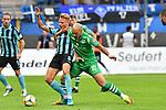 05.08.2019, Carl-Benz-Stadion, Mannheim, GER, 3. Liga, SV Waldhof Mannheim vs. TSV 1860 Muenchen, <br /> <br /> DFL REGULATIONS PROHIBIT ANY USE OF PHOTOGRAPHS AS IMAGE SEQUENCES AND/OR QUASI-VIDEO.<br /> <br /> im Bild: Dorian Diring (SV Waldhof Mannheim #8) gegen Timo Gebhart (TSV 1860 Muenchen #10)<br /> <br /> Foto © nordphoto / Fabisch
