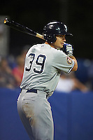 Staten Island Yankees designated hitter Nathan Mikolas (39) during a game against the Batavia Muckdogs on August 26, 2016 at Dwyer Stadium in Batavia, New York.  Staten Island defeated Batavia 6-2.  (Mike Janes/Four Seam Images)
