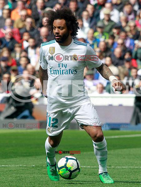 Real Madrid's Marcelo Vieira during La Liga match. April 8,2018. (ALTERPHOTOS/Acero) NortePhoto.com