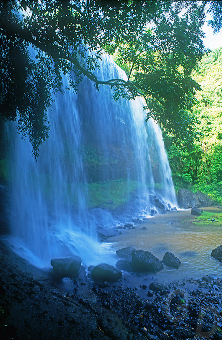 Ngardmau Falls in Palau is the  largest waterfall in Micronesia