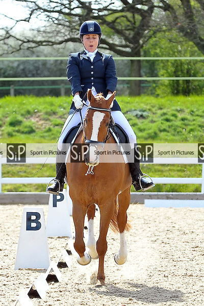Class 8. Medium 75. Bitish Dressage. Brook Farm Training Centre. Essex. 12/04/2015. MANDATORY Credit Ellie Ingram/Sportinpictures - NO UNAUTHORISED USE - 07837 394578