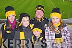 Dr Crokes fans at the UCC v Dr Crokes game in Fitzgerald Stadium on Sunday, from left: Kate O'Brien, Jack Lenihan, Terry Potts, Leah Bartlett and Holly Power.