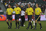 22 August 2009: Match Officials. From left: Assistant Referee Fabio Tovar, Referee Hilario Grajeda, Fourth Official Kevin Stott, Assistant Referee Corey Rockwell. CD Chivas USA played Toronto FC at the Home Depot Center in Carson, California in a regular season Major League Soccer game.