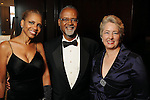 From left: Vanessa Martin, Keith Watson Wade and Mayor Annise Parker at the Ensemble Theater's annual Black Tie Gala at the Hilton Americas Hotel Saturday Aug. 25, 2012.(Dave Rossman/For the Chronicle)