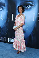 "LOS ANGELES, CA July 12- Indira Varma,  At Premiere Of HBO's ""Game Of Thrones"" Season 7 at The Walt Disney Concert Hall, California on July 12, 2017. Credit: Faye Sadou/MediaPunch"