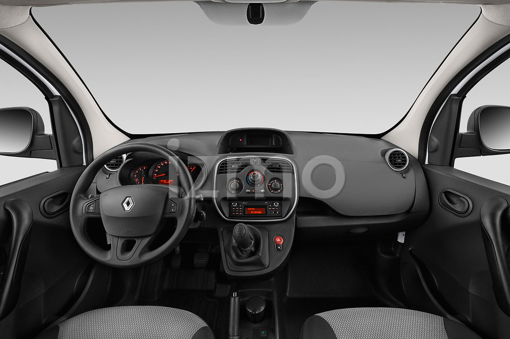 Stock photo of straight dashboard view of a 2019 Renault Kangoo Energy Extra 4 Door Car van