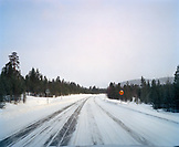 FINLAND, Arctic, road linked with landscape