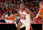 MADISON, WI - NOVEMBER 8: Guard Michael Flowers #22 of the Wisconsin Badgers handles the ball against the Carroll College Pioneers at the Kohl Center on November 8, 2006 in Madison, Wisconsin. The Badgers beat the Pioneers 81-61. (Photo by David Stluka)