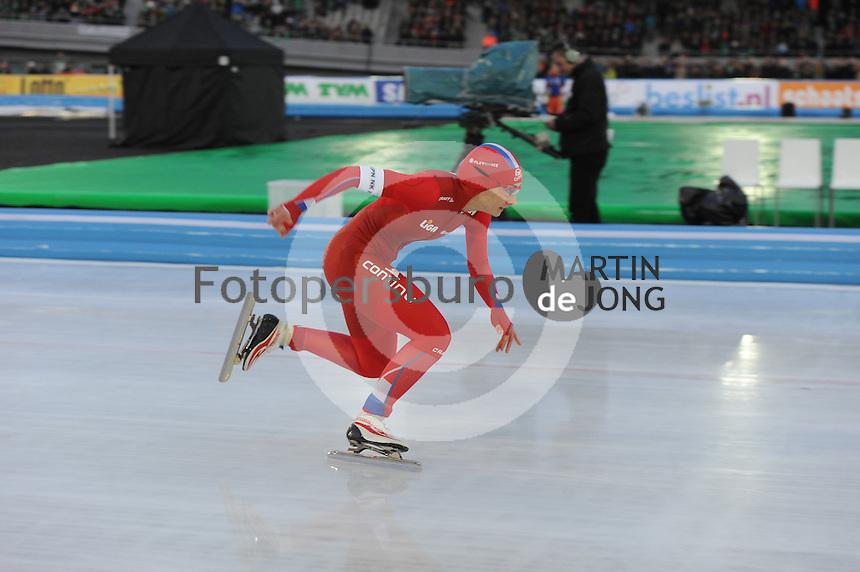 SCHAATSEN: AMSTERDAM: Olympisch Stadion, 28-02-2014, KPN NK Sprint/Allround, Coolste Baan van Nederland, Mayon Kuipers, ©foto Martin de Jong