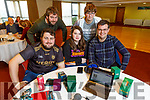 At the Trading Cards Game Show in the Manor West Hotel on Sunday.<br /> Seated l to r: Craig Murphy, Kayla O'Mahoney and Jack Dooee Kingston.<br /> Back l to r: James Daly and Erin Quirke.