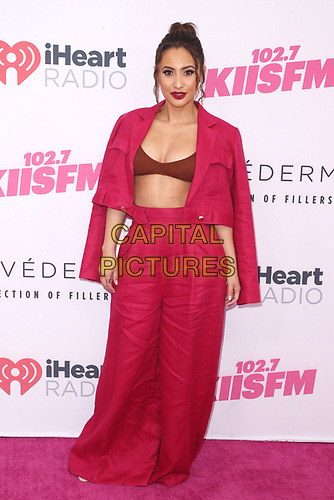 CARSON, CALIFORNIA - JUNE 01: Francia Raisa at KIIS FM 2019 iHeartRadio Wango Tango at Dignity Health Sports Park on June 01, 2019 in Carson, California.  <br /> CAP/MPI/SAD<br /> ©SAD/MPI/Capital Pictures