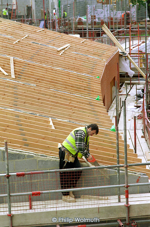 Renovation works on Elmington Estate, Camberwell, London.