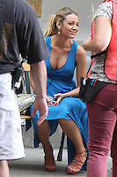 NEW YORK CITY,NY - July 17, 2012: Blake Lively on the set of  Gossip Girl in New York City. © RW/MediaPunch Inc. *NORTEPHOTO*<br />