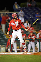 Ohio State Buckeyes right fielder Jacob Bosiokovic (17) at bat during a game against the Pitt Panthers on February 20, 2016 at Holman Stadium at Historic Dodgertown in Vero Beach, Florida.  Ohio State defeated Pitt 11-8 in thirteen innings.  (Mike Janes/Four Seam Images)