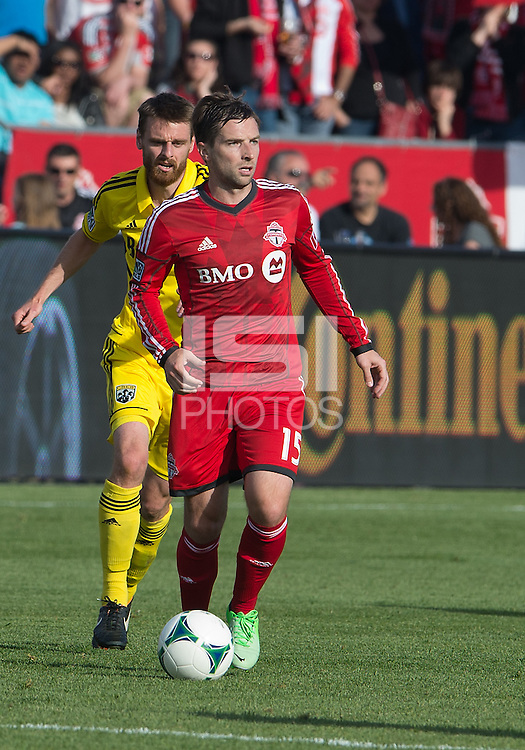 18 May 2013: Toronto FC midfielder Bobby Convey #15 in action during an MLS game between the Columbus Crew and Toronto FC at BMO Field in Toronto, Ontario Canada..The Columbus Crew won 1-0...