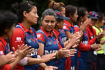Players of Nepal after their ICC 2016 Women's World Cup Asia Qualifier match between China and Nepal on 11 October 2016 at the Kowloon Cricket Club in Hong Kong, China. Photo by Marcio Machado / Power Sport Images