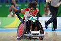 Daisuke Ikezaki (JPN),<br /> SEPTEMBER 15, 2016 - WheelChair Rugby : <br /> Preliminary Round Group B<br /> match Japan 57-52 France<br /> at Carioca Arena 1 during the Rio 2016 Paralympic Games in Rio de Janeiro, Brazil.<br /> (Photo by Shingo Ito/AFLO)