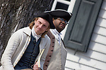 Period actors in Colonial Williamsburg, Virginia.