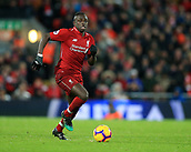 30th January 2019, Anfield, Liverpool, England; EPL Premier League football, Liverpool versus Leicester City; Sadio Mane of Liverpool races through on goal with the ball