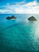 The Mokuluas are islets off of the coast of the Lanikai neighborhood in Kailua, Windward O'ahu.