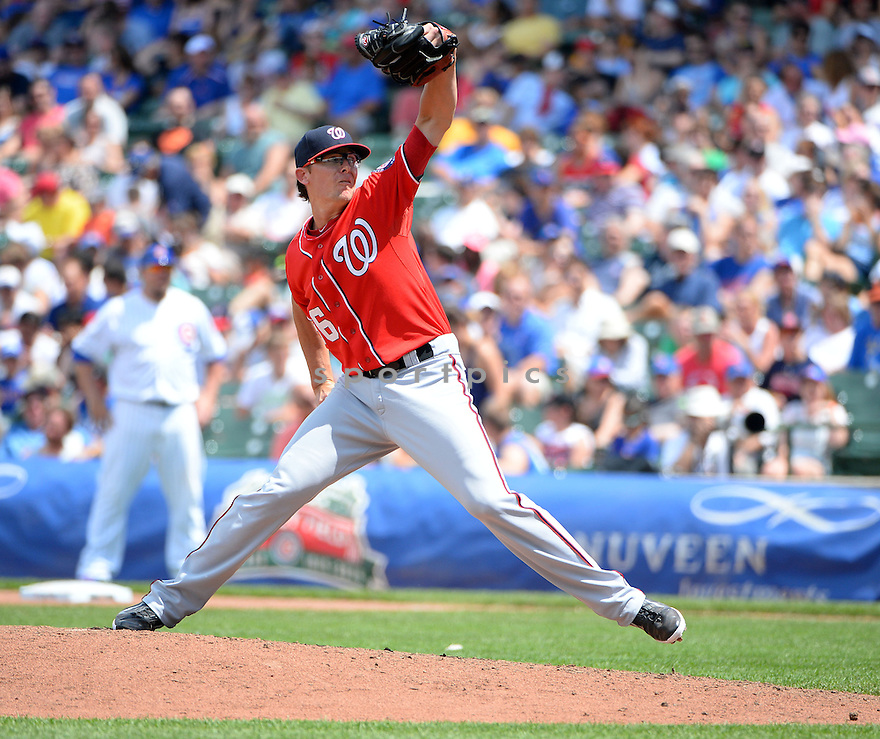 Washington Nationals Tyler Clippard (36) during a game against the Chicago Cubs on June 28, 2014 at Wrigley Field in Chicago, IL. The Nationals beat the Cubs 3-0.