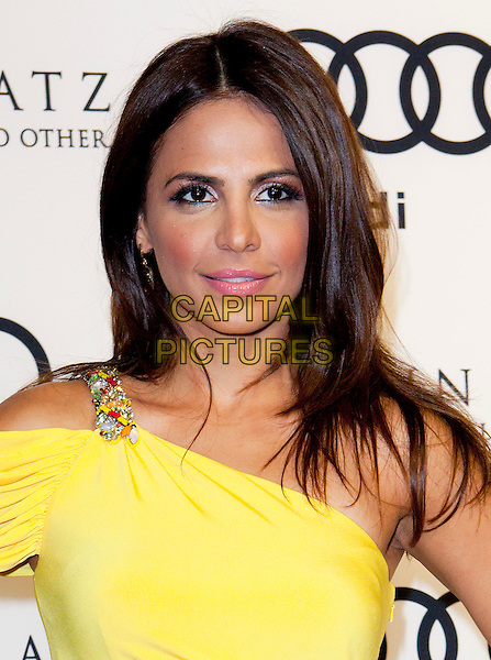 Azita Ghanizada.Audi And Martin Katz Kick Off Golden Globes Week 2012 Held At Cecconi's Restaurant, West Hollywood, California, USA..January 8th, 2012.headshot portrait yellow one shoulder  .CAP/ADM/ES.©Emiley Schweich/AdMedia/Capital Pictures.