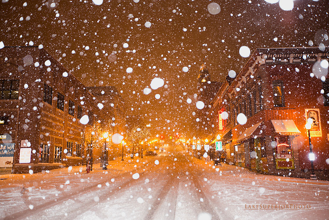 Downtown Marquette, MI , the big snow, 11/10/2014