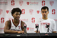 STANFORD, CA - January 26, 2019: Daejon Davis, Oscar da Silva at Maples Pavilion. The Stanford Cardinal defeated the Colorado Buffaloes 75-62.