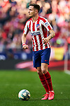 Saul Niguez of Atletico de Madrid during La Liga match between Atletico de Madrid and Sevilla FC at Wanda Metropolitano Stadium in Madrid, Spain. March 07, 2020. (ALTERPHOTOS/A. Perez Meca)