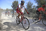 The peloton including Canadian National Champion Antoine Duchesne (CAN) Groupama-FDJ on sector 3 Radi during Strade Bianche 2019 running 184km from Siena to Siena, held over the white gravel roads of Tuscany, Italy. 9th March 2019.<br /> Picture: Eoin Clarke | Cyclefile<br /> <br /> <br /> All photos usage must carry mandatory copyright credit (&copy; Cyclefile | Eoin Clarke)