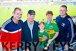 Brendan, Jack, Shane, Anna and Padraig O'Donnell, Abbeyfeale,  Kerry supporters for the double header in Portlaoise on Saturday.