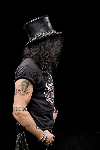 Slash photographed in Manchester, UK - July 3, 2010.  Photo: © Ashley Maile/IconicPix  *HIGHER RATES APPLY* *PREMIUM COLLECTION* **NO WEBSITES**
