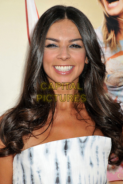 """TERRI SEYMOUR .""""All About Steve"""" Los Angeles Premiere held at Grauman's Chinese Theatre, Hollywood, CA, USA, 26th August 2009..portrait headshot strapless white print smiling .CAP/ADM/BP.©Byron Purvis/Admedia/Capital Pictures"""