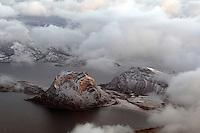 Coast landscape from above, Lofoten, Norway