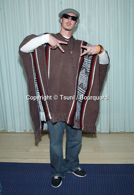 """Eric Balfour (Six Feet Under) arriving at """" A Halloween 70' Style  """" at the Sky Bar, the Mondrian in Los Angeles. October 31, 2002."""