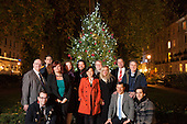 The Paddington Business Improvement District tteam with the Christmas lights in Norfolk Square Gardens, 4/12/13.