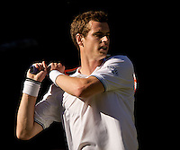 Andy Murray (GBR) (3) against Robert Kendrick USA against in the first round of the gentlemen's singles. Murray beat Kendrick 7-5 6-7 6-3 6-4..Tennis - Wimbledon - Day 2 - Tues 23rd June 2009 - All England Lawn Tennis Club  - Wimbledon - London - United Kingdom..Frey Images, Barry House, 20-22 Worple Road, London, SW19 4DH.Tel - +44 20 8947 0100.Cell - +44 7843 383 012