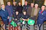 Sponsors - Captains of the Causeway Comprehensive Senior  & U16 team were presented with hoodies, kit bags, shorts, socks and hurleys by sponsors from South West Bins, North Kerry Hurling & Football Boards  and The County board at the school on Friday evening, front l/r Tommy Mansell (Snr Capt.) and Muiriss Delaney (U16 Capt.) back l/r John Delaney (Selector), Joe Walsh (North Kerry Hurling Board), Maurice Leahy (Coach), John Paul Leahy (South West Bins), Willie Dowling (Manager), Denis O'Connor (North Kerry Football Board), Aidan Galvin (North Kerry Football Board) and Joe Walsh (Kerry Count Board).