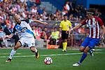 """Atletico de Madrid's player Filipe Luis and Deportivo de la Coruña's player Laureano """"Laure"""" Sanabria during a match of La Liga Santander at Vicente Calderon Stadium in Madrid. September 25, Spain. 2016. (ALTERPHOTOS/BorjaB.Hojas)"""