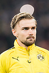 Borussia Dortmund Defender Marcel Schmelzer getting into the field during the Europe Champions League 2017-18 match between Real Madrid and Borussia Dortmund at Santiago Bernabeu Stadium on 06 December 2017 in Madrid Spain. Photo by Diego Gonzalez / Power Sport Images